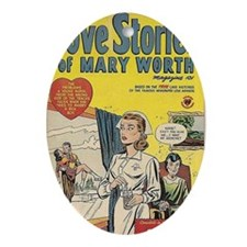 Love Stories of Mary Worth Oval Ornament