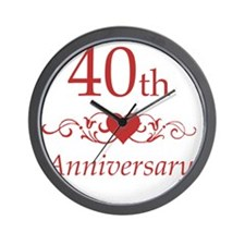 40th Wedding Anniversary Wall Clock