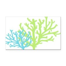 Coral - Caribbean Waters Rectangle Car Magnet