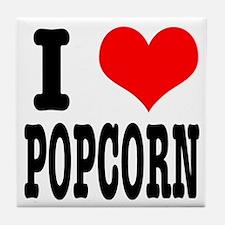 I Heart (Love) Popcorn Tile Coaster