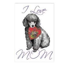 mini poodle mom Postcards (Package of 8)