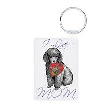 mini poodle mom Keychains