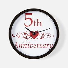 5th Wedding Anniversary Wall Clock