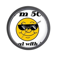 50th Birthday Deal With It Wall Clock