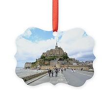 Mont St. Michel, Normandie France Picture Ornament