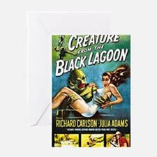 Creature from the Black Lagoon Poste Greeting Card