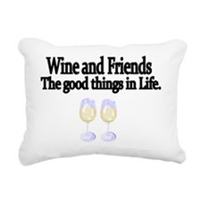 Wine and Friends. The go Rectangular Canvas Pillow