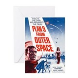 Outer space Greeting Cards