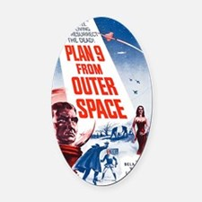 Plan 9 From Outer Space Poster Oval Car Magnet