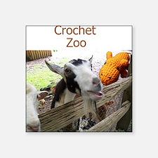 """Crochet Zoo Square Sticker 3"""" x 3"""""""
