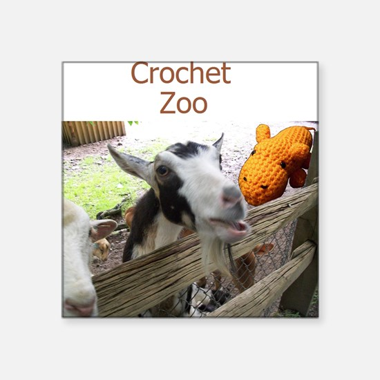 "Crochet Zoo Square Sticker 3"" x 3"""