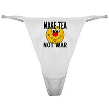MAKE TEA NOT WAR Classic Thong