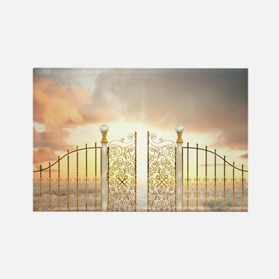 Pearly Gates - wide Rectangle Magnet