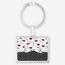 Little Ladybugs Landscape Keychain