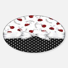 Little Ladybugs Sticker (Oval)