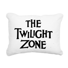 Twilight Zone Logo Rectangular Canvas Pillow