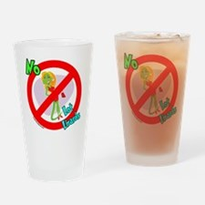 Lot Lizard Warning Sign Drinking Glass