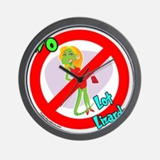 Lot Lizard Warning Sign Wall Clock