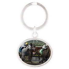 The Finish Line Oval Keychain