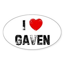 I * Gaven Oval Decal