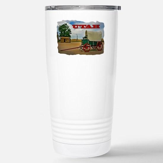 Utah covered wagon Stainless Steel Travel Mug
