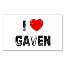 I * Gaven Rectangle Decal