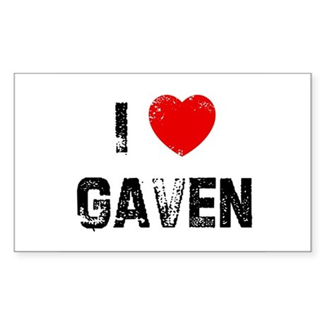 I * Gaven Rectangle Sticker