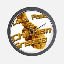 Love, Peace, and Chicken Grease Wall Clock