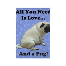 all_you_need_is_love_twin6 Rectangle Magnet