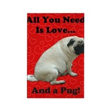 all_you_need_is_love_twin8 Rectangle Magnet