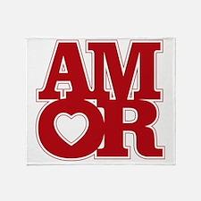 AMOR logo Throw Blanket