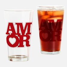 AMOR logo Drinking Glass