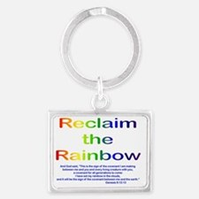 Reclaim the Rainbow Landscape Keychain