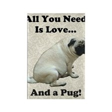 all_you_need_is_love_twin7 Rectangle Magnet