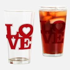 LOVE logo Drinking Glass