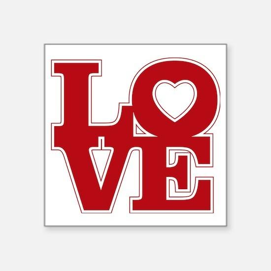 """LOVE logo Square Sticker 3"""" x 3"""""""