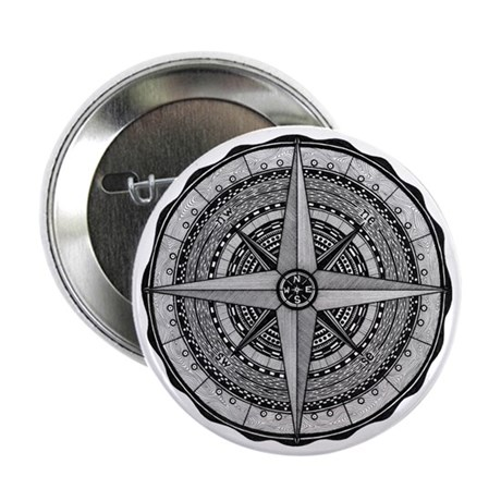 "Compass Rose 2 2.25"" Button"