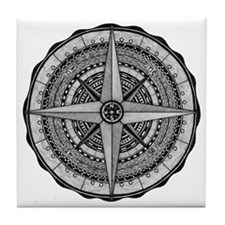 Compass Rose 2 Tile Coaster