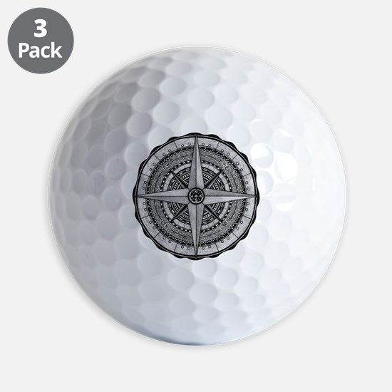 Compass Rose 2 Golf Ball