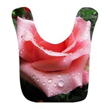 Pink Rose with Dew Bib