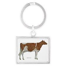 Guernsey Cow Landscape Keychain