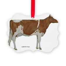 Guernsey Cow Ornament