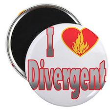 I Love Divergent Magnet