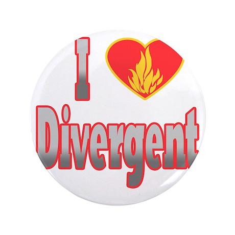 "I Love Divergent 3.5"" Button"