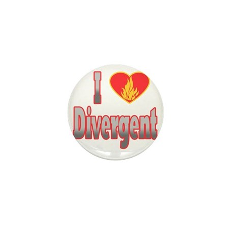I Love Divergent Mini Button