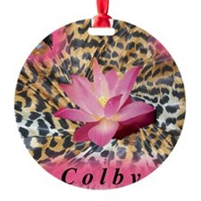 Colby Leopard Lotus Round Ornament