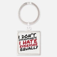Hate Everyone Square Keychain