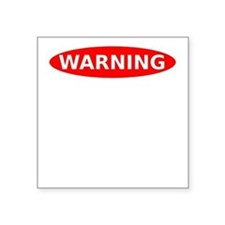 """May Contain Spiders Square Sticker 3"""" x 3"""""""