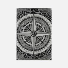 Compass Rose Rectangle Magnet