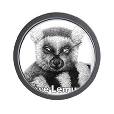 Ring-tailed Lemur T-shirt Wall Clock